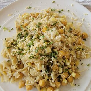 Bowtie Pasta with Chickpeas and Corn