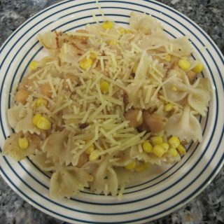 Stir Fry Bowtie Pasta with Chick Peas & Corn – The Spice Packet Blog (The First of Many)