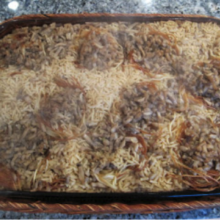 Pasta Nests with Onions and Mushrooms