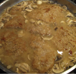 Veal Scaloppine With Mushrooms