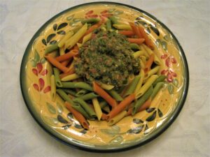 Garden Fresh Pesto and Pasta