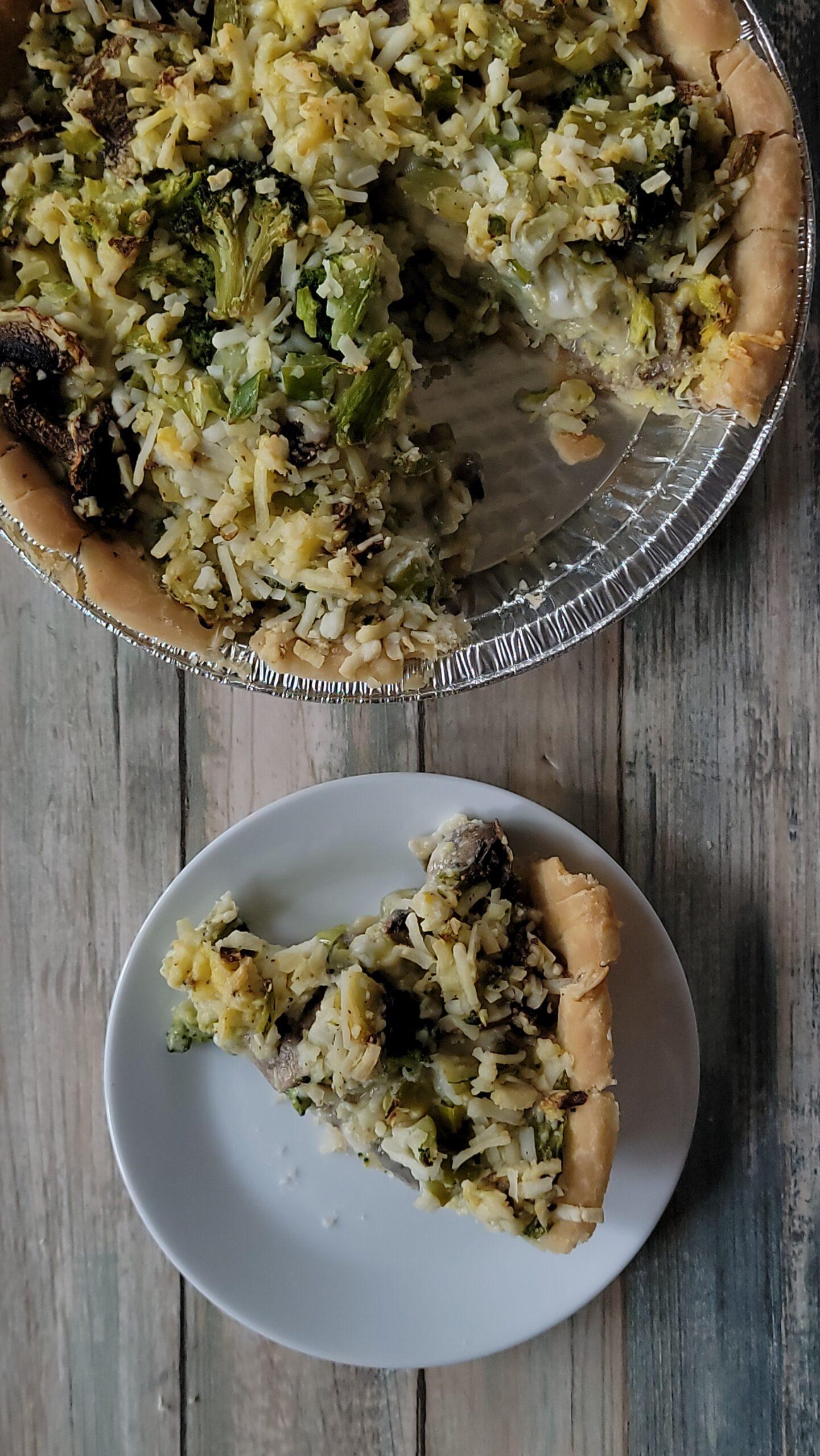 Broccoli Mushroom Cheese Pie