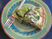 Broccoli & Mushroom Cheese Pie