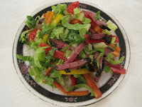 Colorful Pepper and Pastrami Salad
