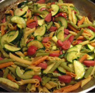 Stir Fry Kielbasa & Zucchini and Noah's Ark Fries