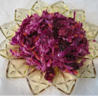 Purple Slaw with Carrots & Craisins