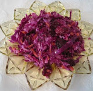 Purple Slaw with Carrots & Craisins