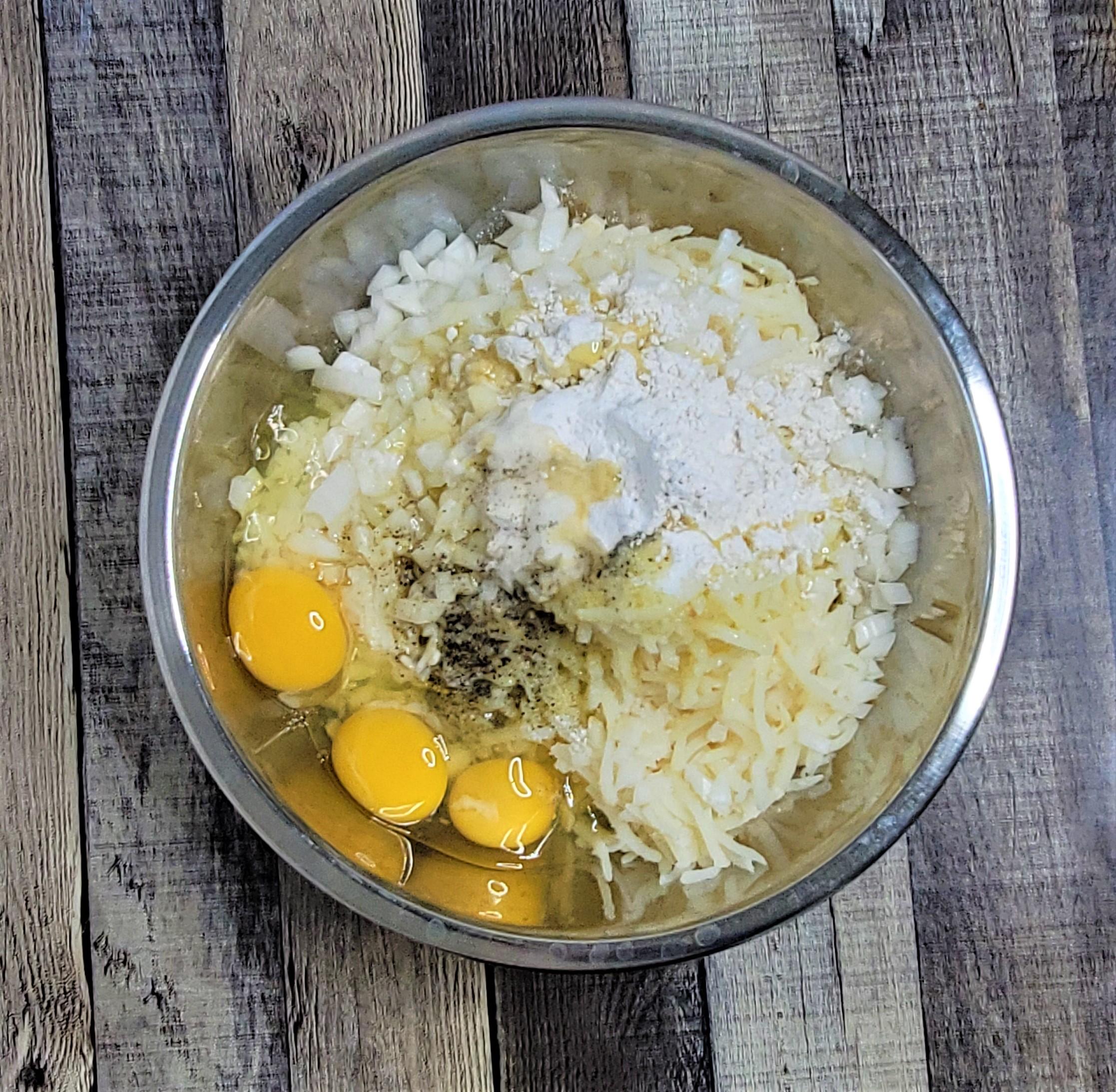 Hash Brown Potato Kugel ingredients