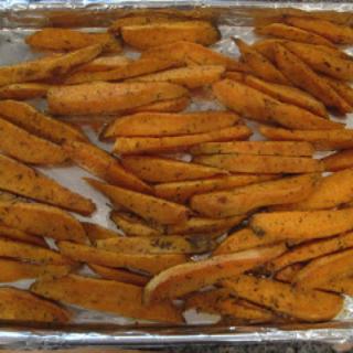 Spiced Sweet Potato Wedges & Chicken Leek Soup