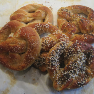 Homemade Soft Pretzels and Jerry's Minestrone Soup