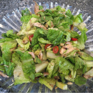 Grilled Chicken and Raspberry Syrup Vinaigrette Salad