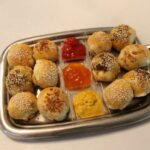 Meat Knishes with Dipping Sauce
