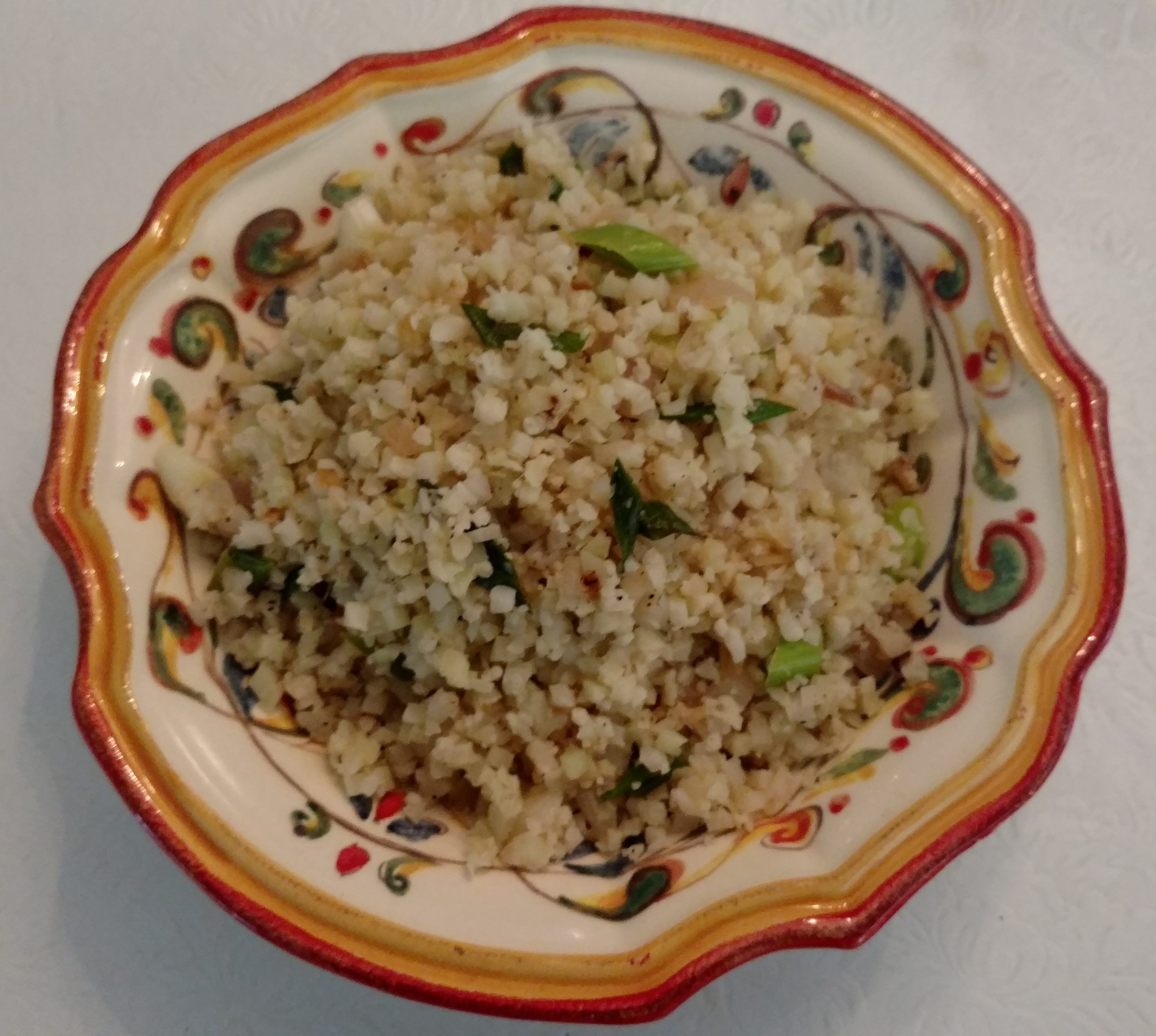 Cauliflower Rice with Green Garlic
