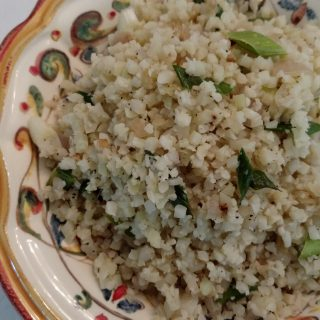 Ho Ho Ho – Green Garlic! Cauliflower Rice with Green Garlic and Shallots