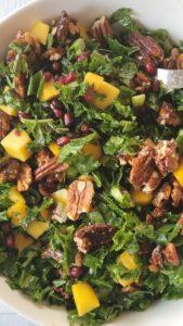 Kale Pomegranate Mango Salad