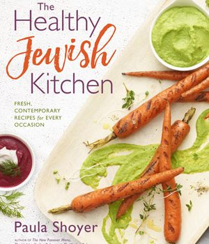 """""""The Healthy Jewish Kitchen"""" A review of Paula Shoyer's new book & Potato and Scallion Latkes with Pickled Apple Sauce"""