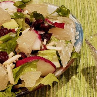 Pomelo and Avocado Salad with Lime Dressing and Mazel Tov!