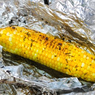 Fire Pit Corn and Salad