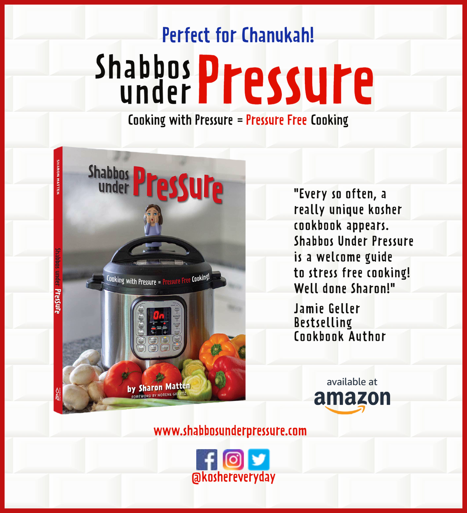 Shabbos Under Pressure is here!! Click on the image to buy!!