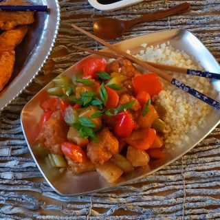 Pineapple Chicken Stir Fry and Chicken Strips for your Chinese X-mas Feast