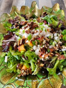 This is a photo of the completed salad with all the ingredients.