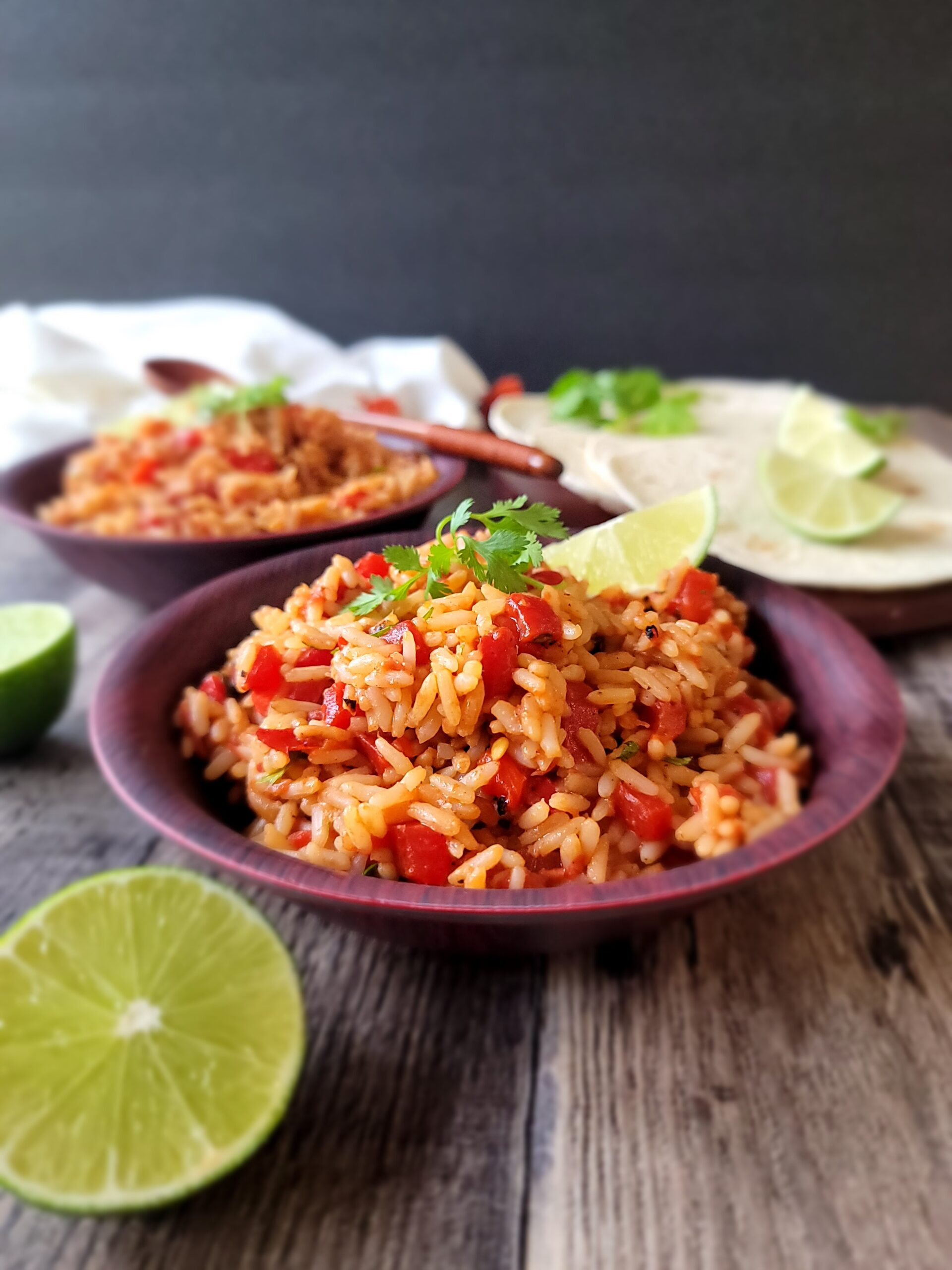 This is a picture of finished Fire Roasted Mexican Rice