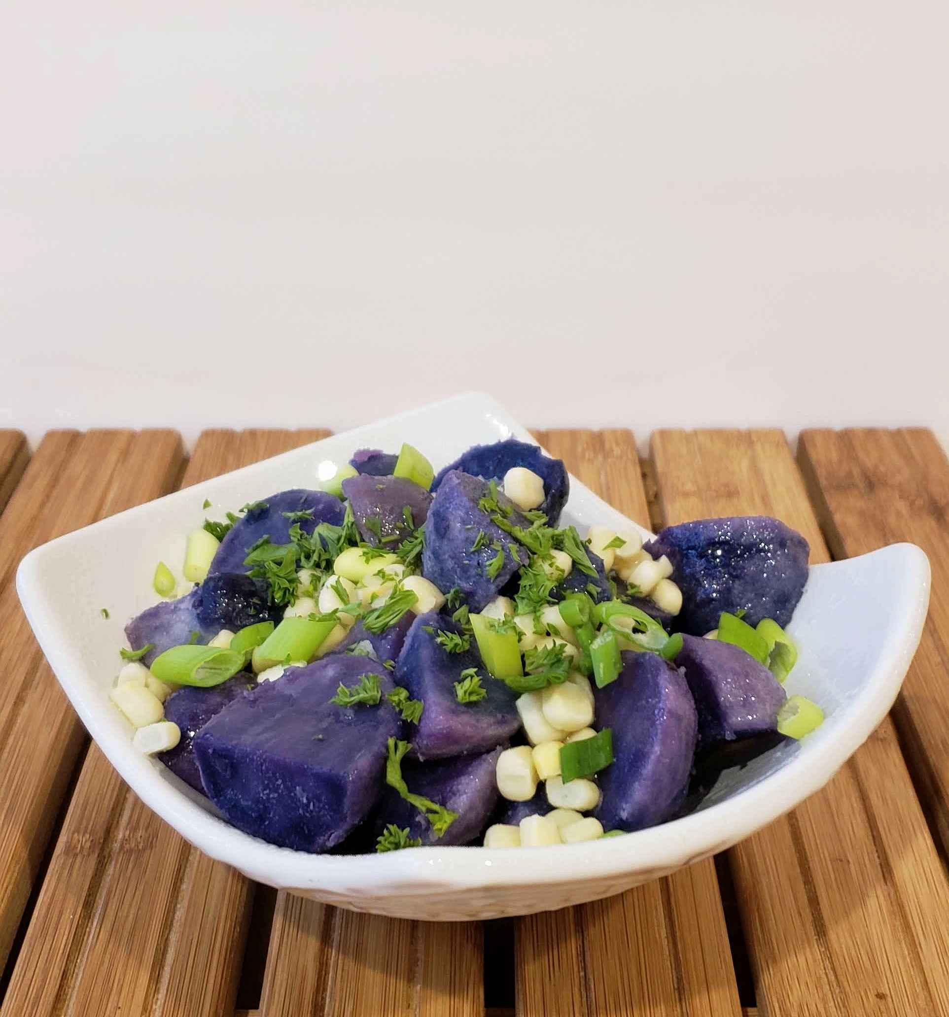Purple Potato Salad from Shabbos Under Pressure
