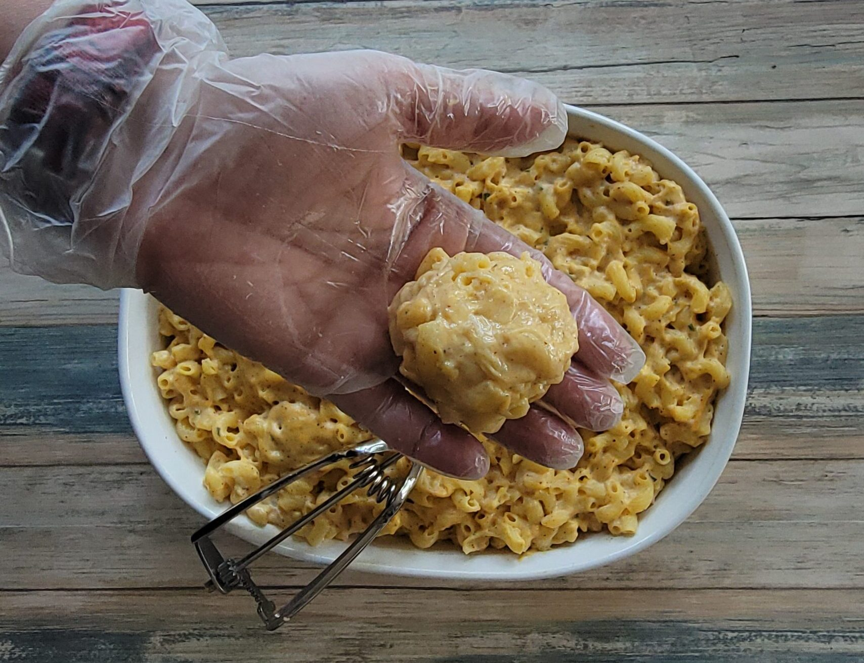 Making the Mac and Cheese Balls