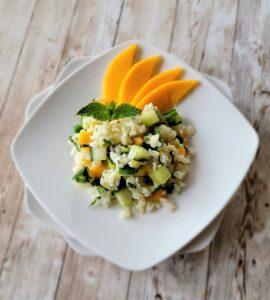 A photo of the Mango Mojito Mint salad.