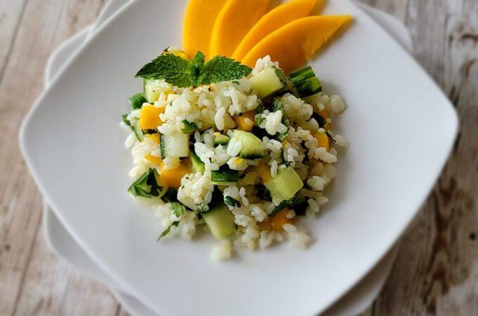 Mango Mojito Rice Salad