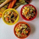 The final display of Garden Fresh Confetti Quinoa