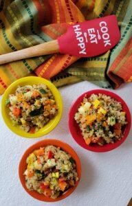 Here is the final photo of the Garden Fresh Confetti Quinoa