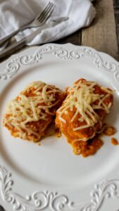 Two slices of Tofu Parmesan