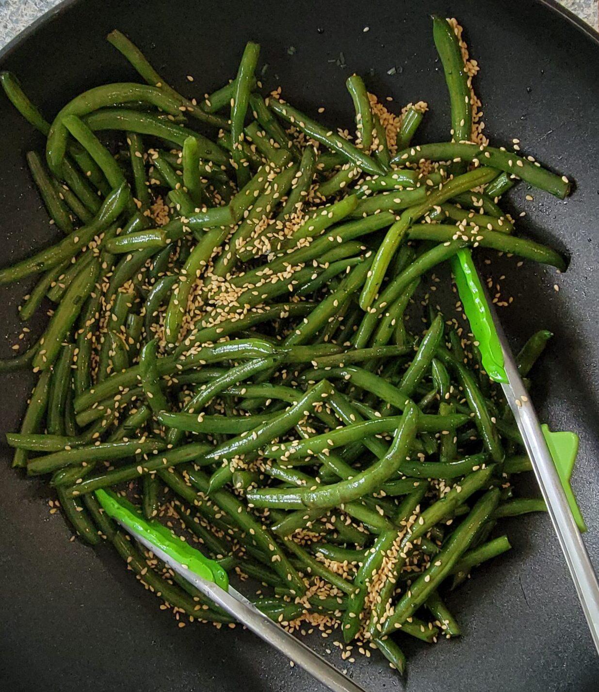 Asian Green Beans with Green Garlic