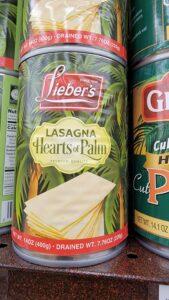 Hearts of Palm Lasagna noodles