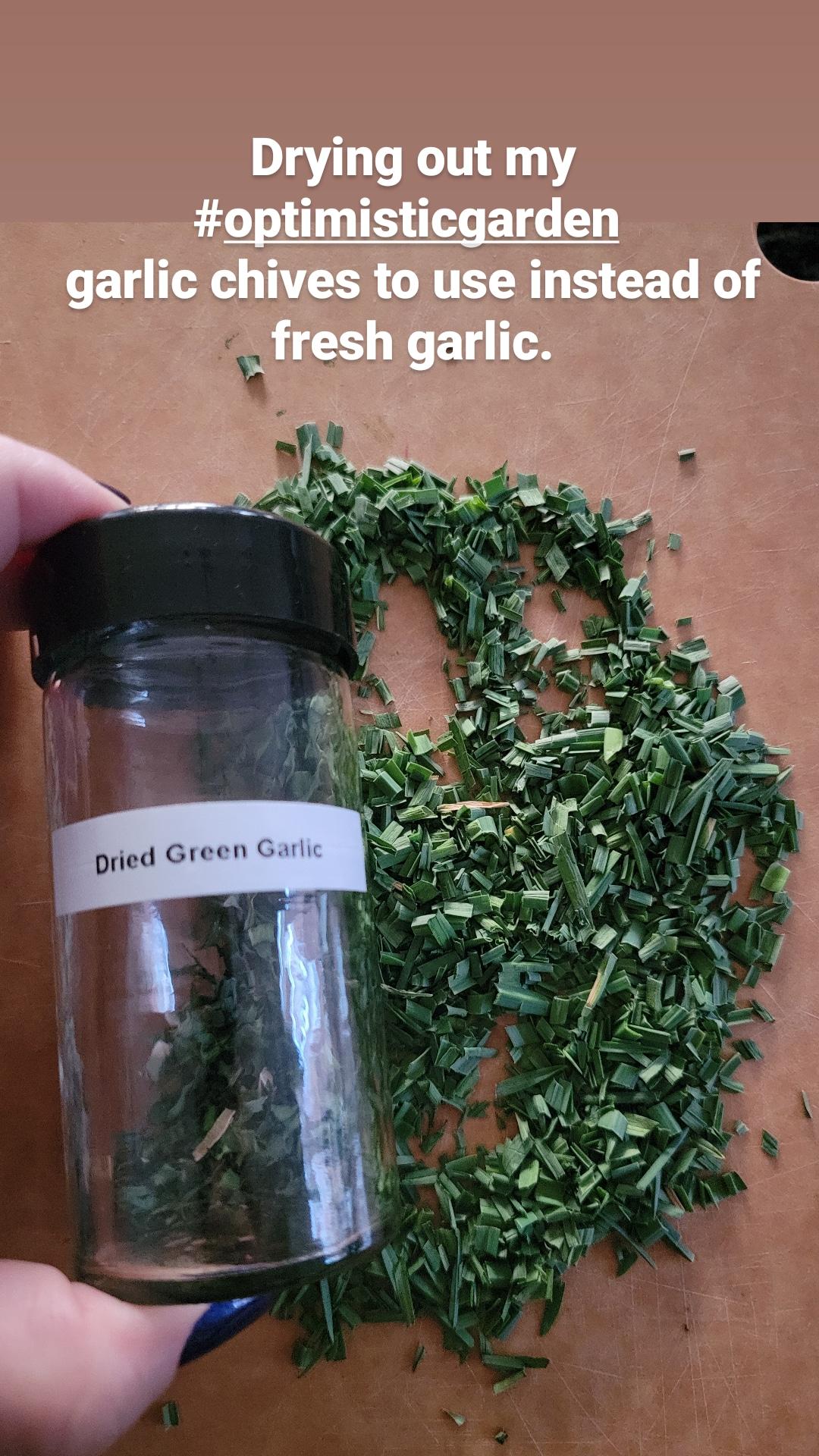 Dehydrated Green Garlic