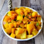 Golden Beets with Mandarin oranges are sweet and pretty to eat.