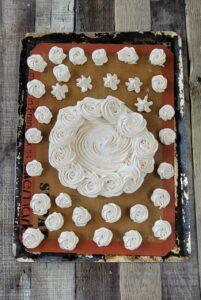 An entire tray of brown sugar meringues.