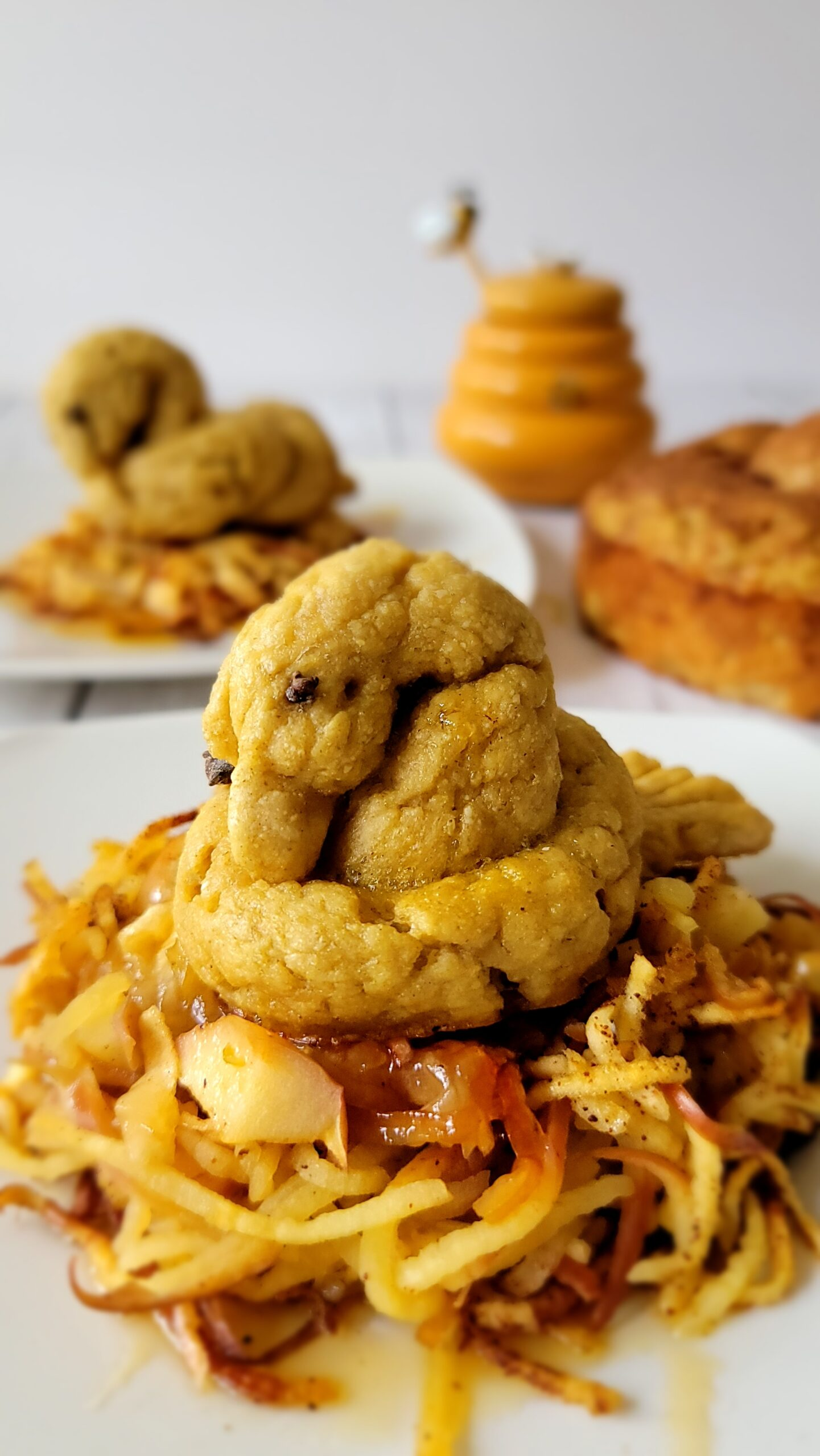 Challah Birds with Apple Nests
