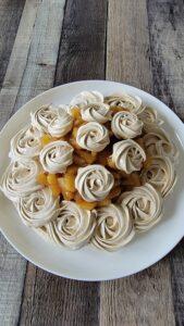 Brown Sugar Pavlova with Apple Filling
