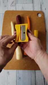 Carrots with the pencil sharpener tool