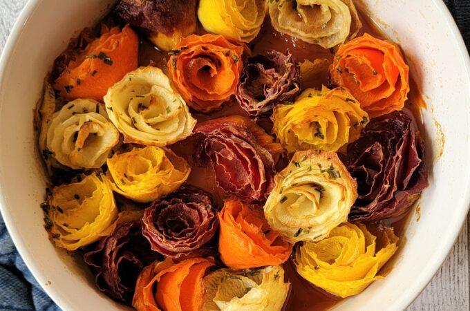 Honey Ginger Carrot Roses