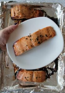 Honey Pomegranate Salmon without the sauce
