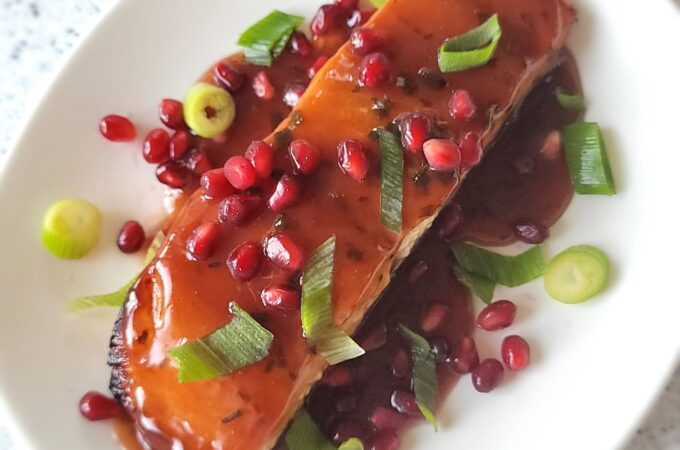 Honey Pomegranate Salmon