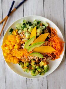 Teriyaki Salmon and Rice Bowl