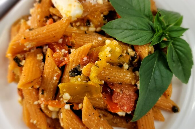 Heirloom Tomato Red Lentil Pasta